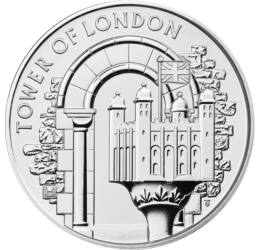 5 lire,The Tower-Turnul Alb,2020 Marea Britanie
