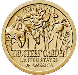 Botanică şi agricultură, Inovatori americani - Georgia, 1 dolar, SUA, 2019