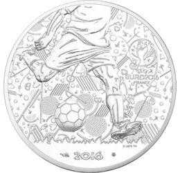 Campionatul European de Fotbal 2016, 10 euro, argint, Franţa, 2016