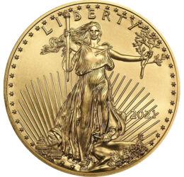 Vultur din aur, 5 dolari, aur, SUA, 2021