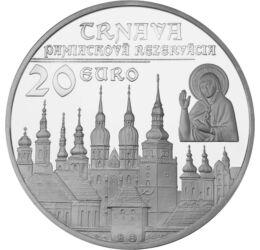 Oraşul Trnava, 20 euro, argint, Slovacia, 2011