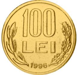 100 lei,Mihai Viteazul,1991-96,aurit, România