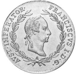 20 creiţari, Francisc I, 1802-1830, Imperiul Habsburgic