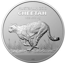 1 dolar, Ghepard pe savană, Cheetah, argint de 999/1000, 31,1 g, Australia, 2021