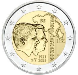 2 euro, Henric şi Regele Filip, cupru, nichel, 8,52 g, Belgia, 2021
