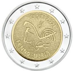 2 euro, Pictură rupestră, , cupru, nichel, 8,52 g, Estonia, 2021
