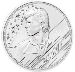 2 lire, David Bowie, , greutate, argint de 999/1000, 31,1 g, Marea Britanie, 2021