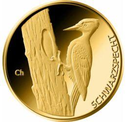 20 euro, Ciocănitoare neagră, aur de 999,9/1000, 3.89 g, Germania, 2021