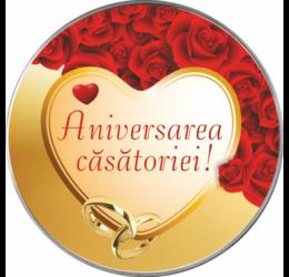 // Aniversara căsătoriei, felicitare personalizată, medalie ocazie, ambalată exclusiv //