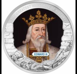 Eduard al III-lea, regele Angliei,1 dolar,  Palau, 2015