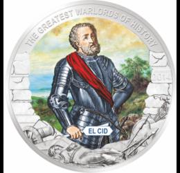 El Cid, erou medieval spaniol, 1 dolar,  Palau, 2014