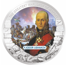 Fyodor Ushakov, amiralul flotei ruse, 1 dolar,  Palau, 2014
