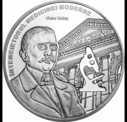 // medalie placată cu argint, Victor Babeş, calitate proof, România,  // Victor Babeş, bacteriolog şi medic, a fost unul dintre fondatorii microbiologiei moderne, autorul primului tratat de bacteriologie din lume.