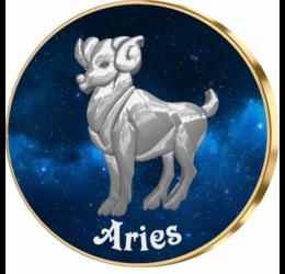 Berbec, medalie zodiac, ambalată exclusiv