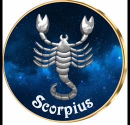 Scorpion, medalie zodiac, ambalată exclusiv