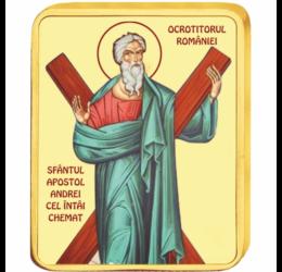 Sf. Apostol Andrei - medalie icoană, placată cu aur, România