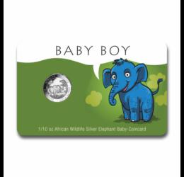 """""""Baby Elefant"""" BĂIEŢEL 1/10 unc argint pur, 2019, Somalia"""