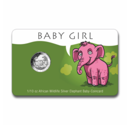 """Baby Elefant"" FETIŢĂ 1/10 unc argint pur, 2019, Somalia"