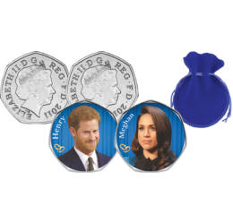 Meghan şi Prinţul Harry, 2x50 pence, Marea Britanie