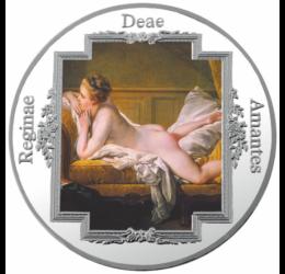Elogiu femeii - Francois Boucher - Odaliscă brună, medalie placată cu argint