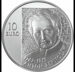 10 euro, Anton Bernolák, Ag, bu,2012 Slovacia