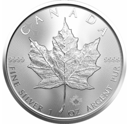 Ofertă de 5 uncii argint pur! Frunză de jugastru, 5x5 dolari, argint, Canada