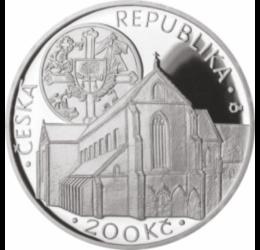 200 kč,Mănăst.Coroana de Aur,Ag,bu Republica Cehă