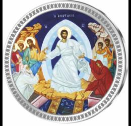 Învierea lui Iisus Hristos pe ARGINT PUR