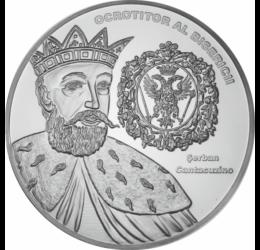 // medalie placată cu argint, Şerban Cantacuzino, calitate proof, România,  // Figură remarcabilă a istoriei româneşti, a avut un rol important în susţinerea şi dezvoltarea culturii şi a traiului din Ţara Românească.