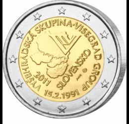 20 de ani de la formarea Grupului de la Vişegrad, 2 EUR, Slovacia, 2011