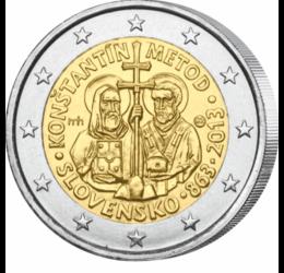 Chiril şi Metodie în Moravia Mare, 1150 de ani, 2 EUR, Slovacia, 2013