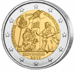 2 euro, Univ. Istropolitana, 2017 Slovacia