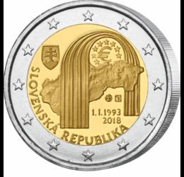 Înfiinţarea Republicii Slovace, 25 de ani, 2 EUR, Slovacia, 2018