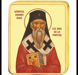 Sfântul Ierarh Iosif cel Nou de la Partoş - medalie icoană, placată cu aur, România