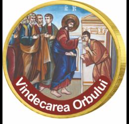 Minunile lui Iisus, Vindecarea orbului - monedă pictată, 50 cenţi, UE