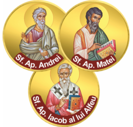 Apostoli ai lui Hristos, set de 3 monede
