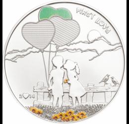 Monedă care poate fi pictată, 5 dolari, argint, Insulele Cook, 2014