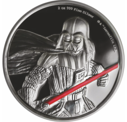 Darth Vader, 5 dolari, 2 uncii argint pur, motive pictate, ambalat exclusiv