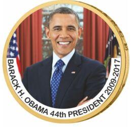 1 dolar, Barack Obama, monedă color, 2007-2020, SUA