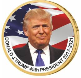 1 dolar, Donald J. Trump, monedă color, 2007-2020, SUA