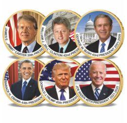 """6x1 dolar, Dolari prezidenţiali care """"lipsesc"""", 2007-2020, SUA"""