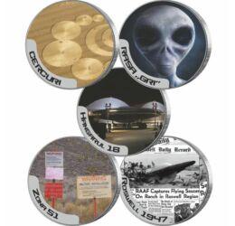 5x1/4 dolar, Secrete şi mistere – 1947 Roswell, CuNi, 2010-2017, SUA