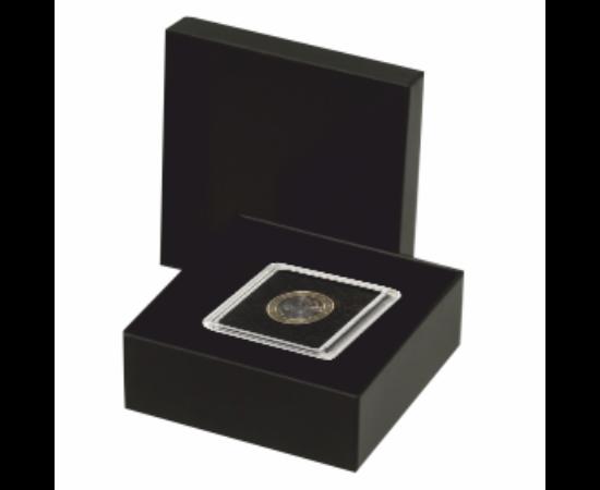 Cutie pentru monede în capsule pătrate (1 x Quadrum 50x50 mm)