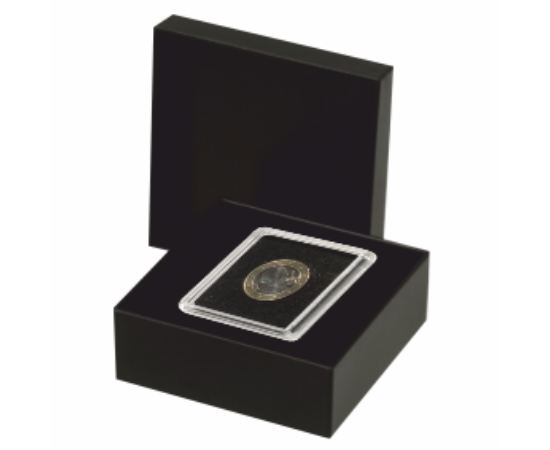 Cutie pentru monede în capsule pătrate (1 x capsulă 50x68 mm)