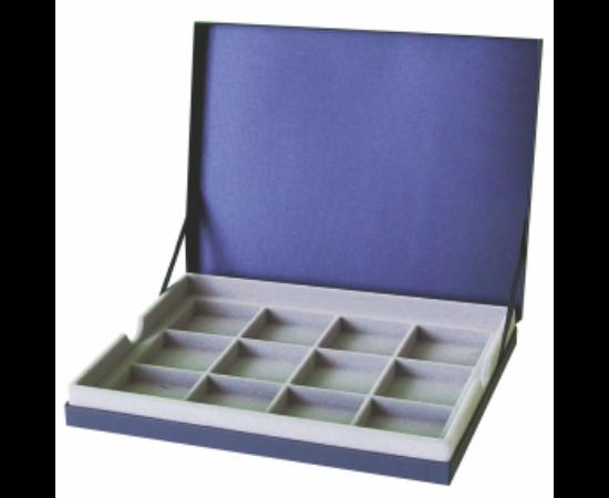 IPRACTIC casetă pentru colecţii Casetă 12 locaşuri, albastru