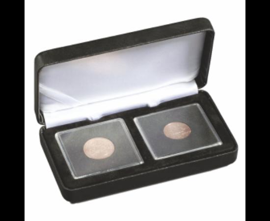 Cutii NOBILE pentru monede în capsule pătrate (2 x Quadrum)