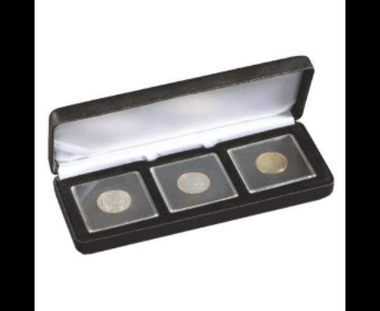 Cutii NOBILE pentru monede în capsule pătrate (3 x Quadrum)