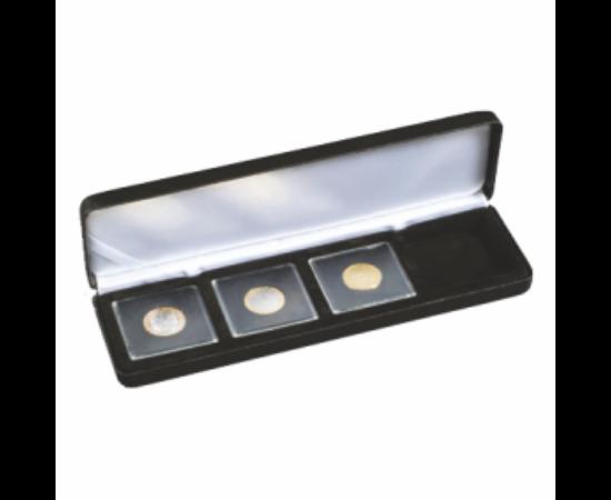 Cutii NOBILE pentru monede în capsule pătrate (4 x Quadrum)