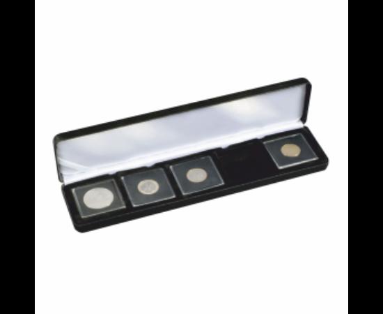 Cutii NOBILE pentru monede în capsule pătrate(5 x Quadrum)