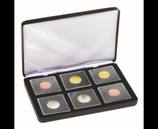 Cutii NOBILE pentru monede în capsule pătrate(6 x Quadrum)